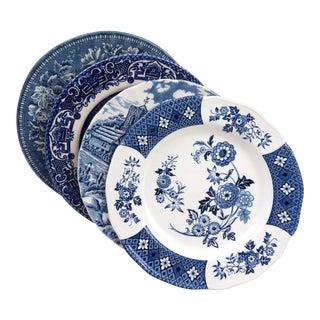 Mismatched Ironstone China Dessert Plates - Set of 4