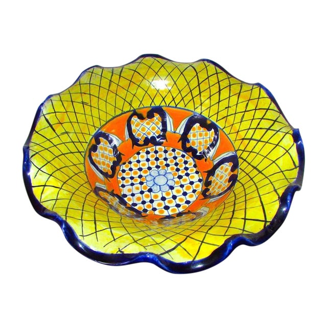 Image of Mexican Pottery Talavera Large Decorative Bowl