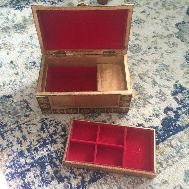 Antique Italian Florentine Gold Music Box Jewelry Box - Image 8 of 11