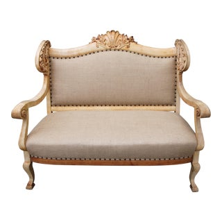 19th Century Carved French Sofa