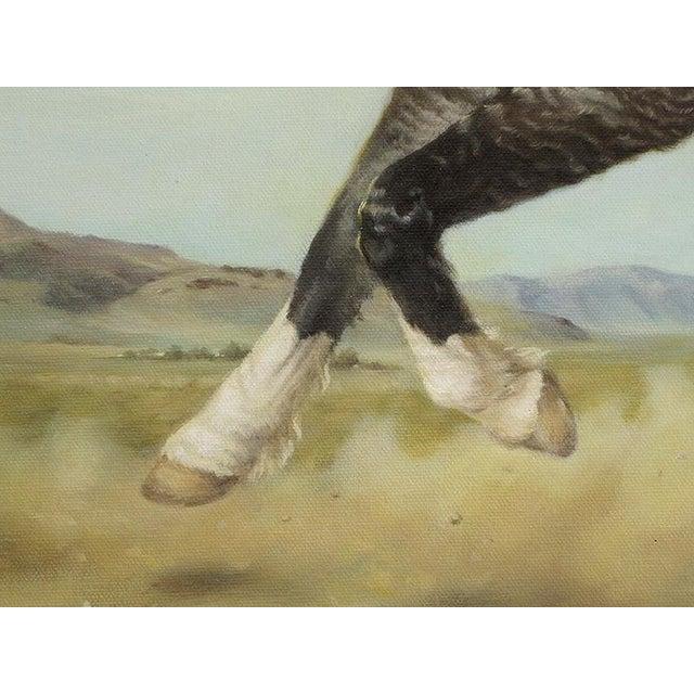 "Ute Simon ""Surprise"" American Bashkir Curly Horse Painting - Image 7 of 9"