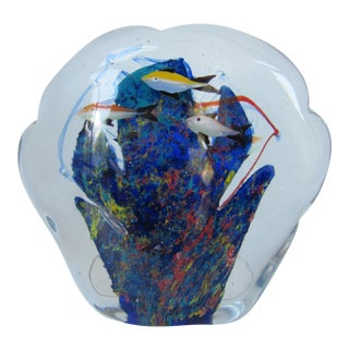 Murano Glass Fish Paper Weight