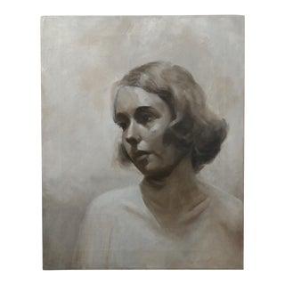 Black & White Actress Oil Painting Portrait