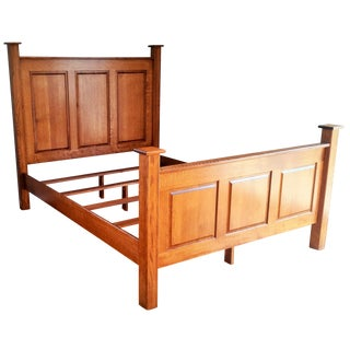 Amish Handcrafted Mission Style Headboard & Footboard Queen Bed Frame