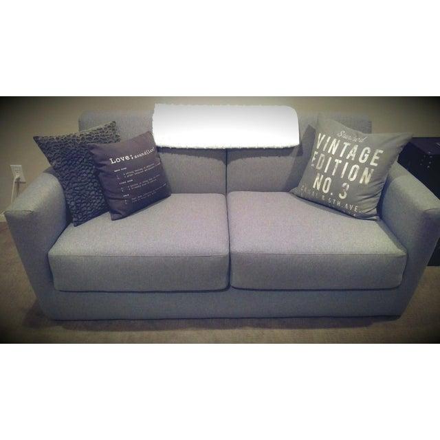 Modern Charcoal Sleeper Sofa - Image 4 of 4