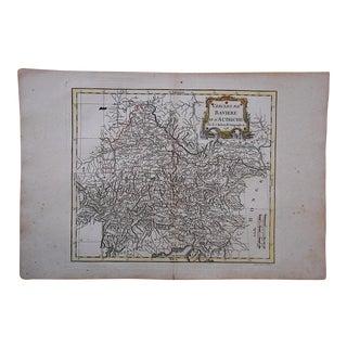 18th C. Antique Map of Germany (Bavaria) & Austria