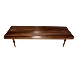 Mid-Century Modern Danish Slat Coffee Table/Bench