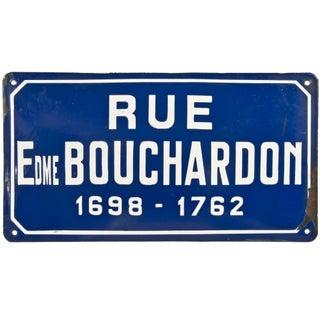 French Porcelain Enamel Street Sign