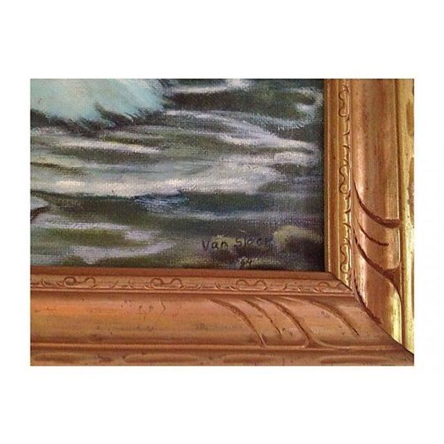Coastal Seascape Oil Painting - Image 2 of 6