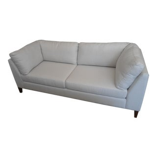 EQ3 Salema Fabric Sofa in Off-White Linen
