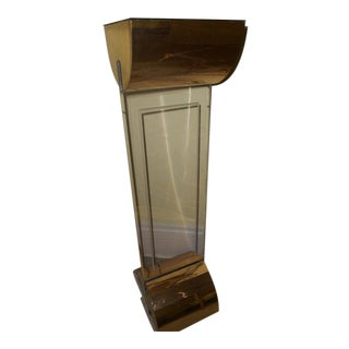 Lucite Acrylic Pedestal Table Floor Lamp