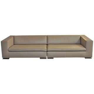"Minotti Italian Leather ""Moore"" Sofa"