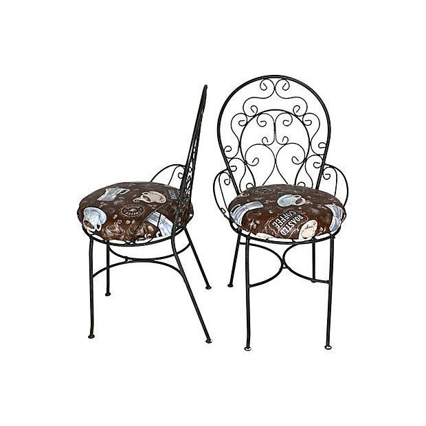1950s Wrought Iron Bistro Set - Set of 3 - Image 6 of 10