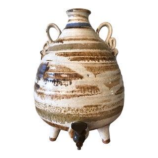 Vintage Handmade Stoneware Pottery Decorative Barrel