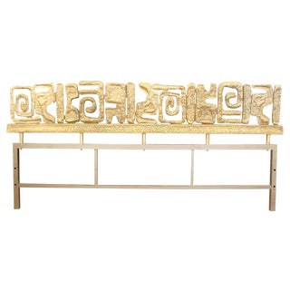 Silvered Bronze Headboard by Luciano Frigerio