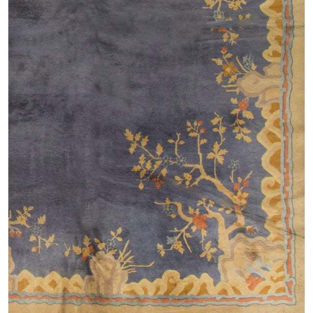 """Vintage Art Deco Chinese Rug - 13'7"""" X 14'3"""" - Image 4 of 4"""