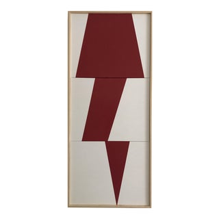 """Jason Trotter Original Acrylic Painting """"Red Jagged Triptych JET0487"""""""