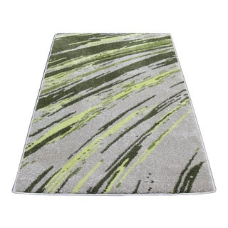 STRIATED STRIPES RUG GREEN 5'3''X 7'7''