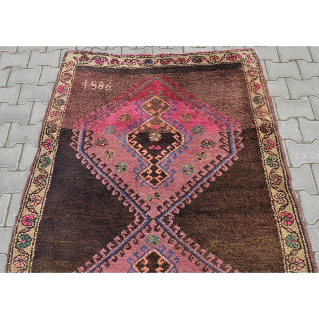 Hand Knotted Turkish Runner Rug - 4′6″ × 13′3″ - Image 7 of 11