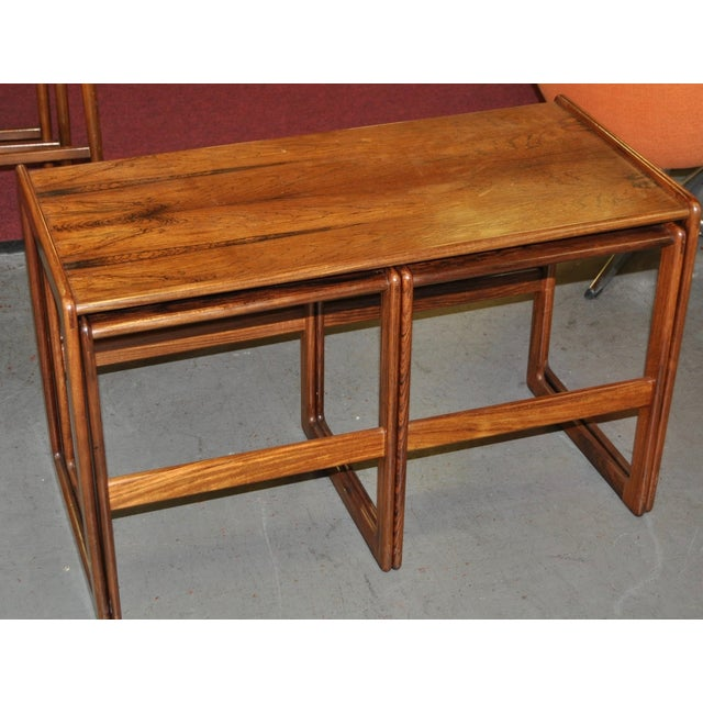 Image of Vintage Rosewood Nesting Coffee Tables C.1960's