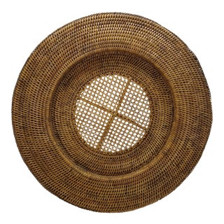 Natural Rattan Round Tray
