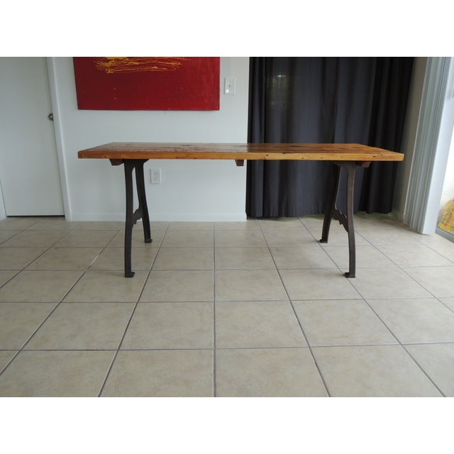 Vintage Industrial Reclaimed Wood Dining Table Chairish