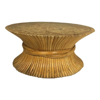McGuire Attributed Wheat Sheaf Table Base