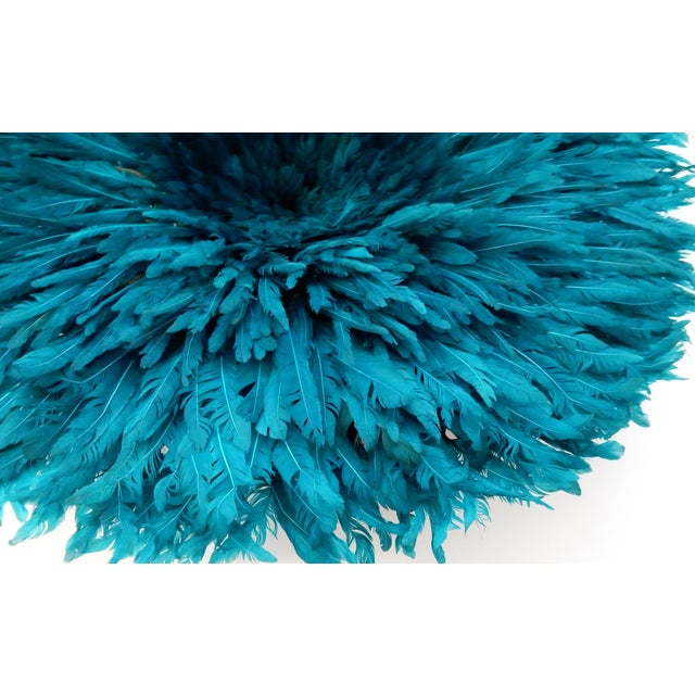 Ceremonial Turquoise Juju Hat Wall Hanging - Image 2 of 7