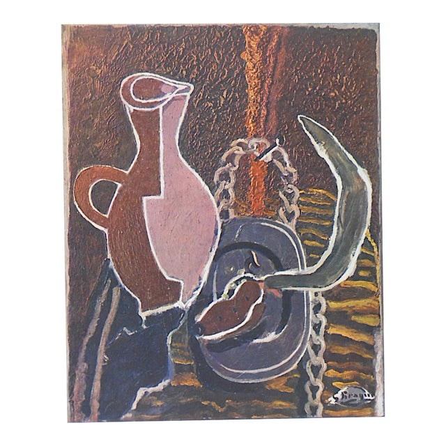 Vintage Mid-Century Braque Lithograph - Image 4 of 4