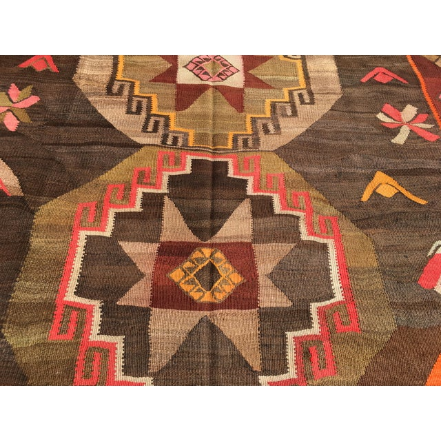 Vintage Turkish Kilim Rug - 6′4″ × 12′ - Image 5 of 10