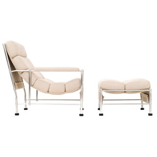 WARREN MCARTHUR LOUNGE CHAIR AND OTTOMAN
