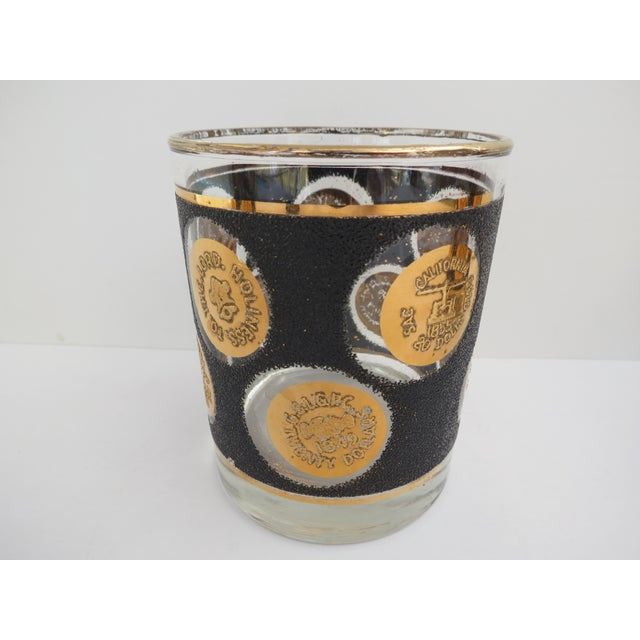Gold Coin Lowball Glasses - Set of 7 - Image 5 of 6