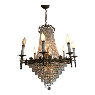 Large Spanish Crystal Chandelier