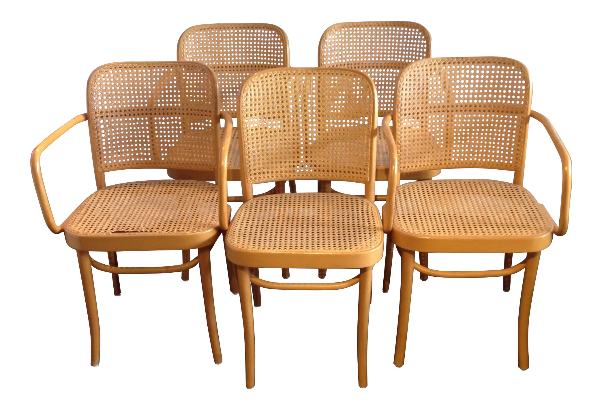 Attractive Prague Bentwood Cane Chairs   Set Of 5