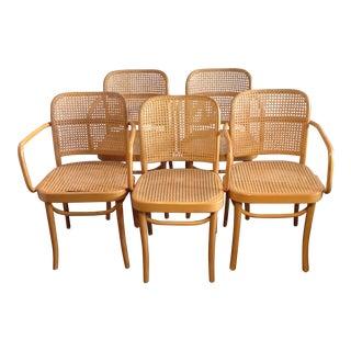 Prague Bentwood Cane Chairs - Set of 5