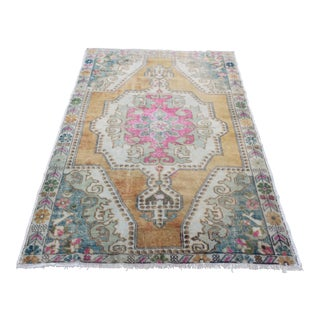 Antique Oushak Handmade Carpet - 4′5″ × 7′