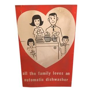1950s Vintage Dishwasher Sign