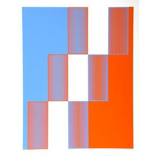 Richard Anuszkiewicz, Celebrate New York, Print