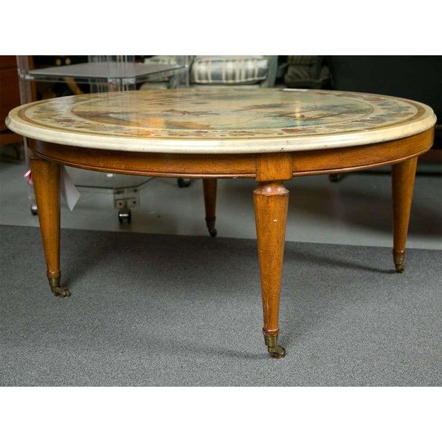 Marque Genuine Marble Top Coffee Table: Italian Scagliola Marble Top Coffee Table