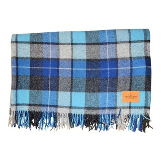Pendleton Hightland Motor Blue Tartan Robe Throw