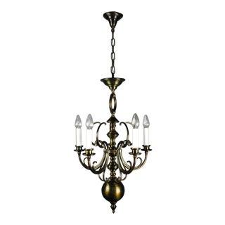 Unusual Art Nouveau Fixture (5-Light)