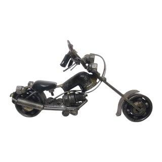 Motorcycle Sculpture, Vroom Leather Metal Harley