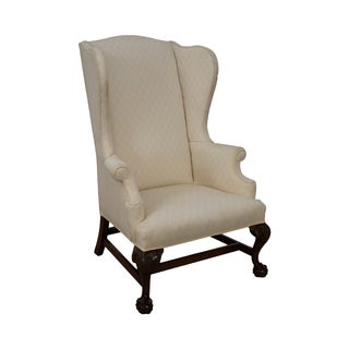 Custom Quality Chippendale Style Wing Chair