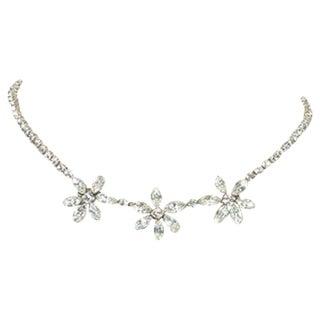 60's Kramer Rhinestone Flower Necklace