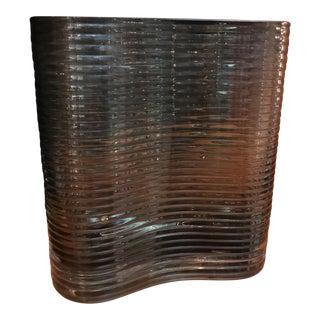 Mid-Century Smoky Glass Vase