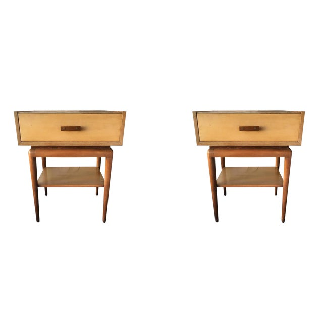Vintage Mid-Century Nightstands - A Pair - Image 1 of 7