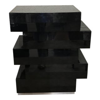 Black Lacquer Chest of Drawers, Circa 1980s