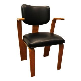 Mid Century Danish Modern Joe Atkinson Bentwood Armchair for Thonet