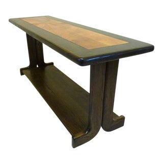 Lane Mid Century Modern Inlaid Wood Console Table