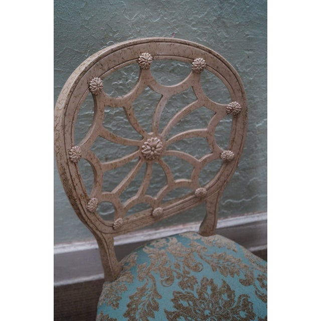 Faux Painted Spider Back Dining Chairs - Set of 6 - Image 5 of 10